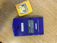 Game boy colour with Pokemon yellow