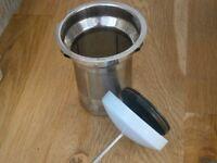 Light blue Bodum tea press plunger