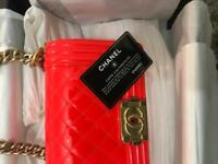 Chanel Boy Flap Bag Quilted Patent