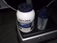 1KG SCI MX DIET PRO MEAL,UNUSED UNOPEN,STRAWBERRY FLAVOUR,ALSO NEW SHAKER DRINK CUP.
