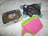 New Boxed Car Baby viewing mirror, window sun visor and bath tidy Used