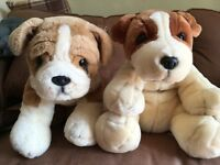 Simply Soft plush dogs x 2