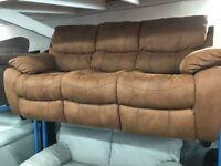 New Ex Display - dfs Tan 3 Seater Sofa