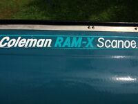 Coleman RAM-X Scanoe - Boat plus two life jackets and three paddles.