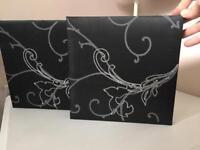 Black/silver wall art