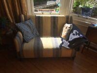 Small antique sofa/double armchair