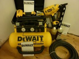 DeWALT compressor with 1st and 2nd fix nail gun