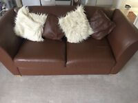 Brown 2 seater sofa in amazing condition + folding into sofa bed!!