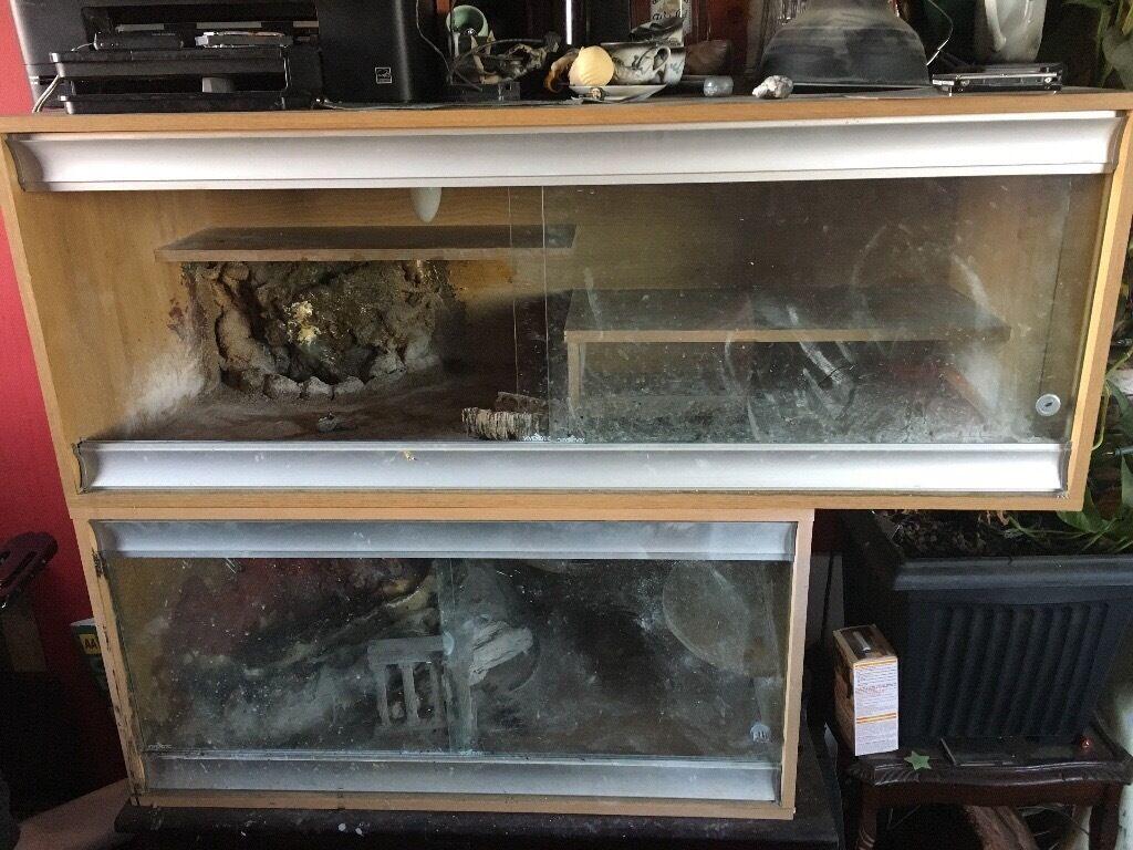 2 Story Vivarium Perfect For Reptiles Sliding Glass Doors 35 In