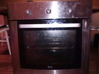 Electric oven standard size fits underneath kitchen hob in IKEA type kitchen cupboards working ok