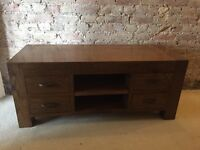 Solid Reclaimed Oak Matching Tv Stand and Coffee Table - RRP £1404