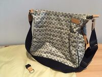Storksak Orla Kiely style Changing Bag with travel mat