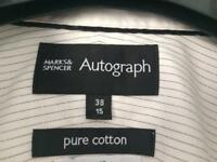 M&S white mens shirt