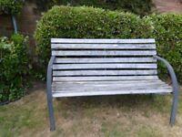 Wooden Garden Bench with metal legs