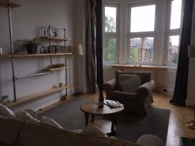 Sunny 1 bed and box room furnished flat in sought after area