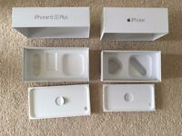 2 Boxes for Apple iPhones : 1x 6S PLUS 16GB SPACE GREY and 1x 6 16GB Space Grey - no phones