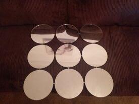 mirror modern 9 circles