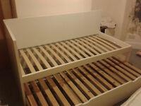 IKEA single white bed