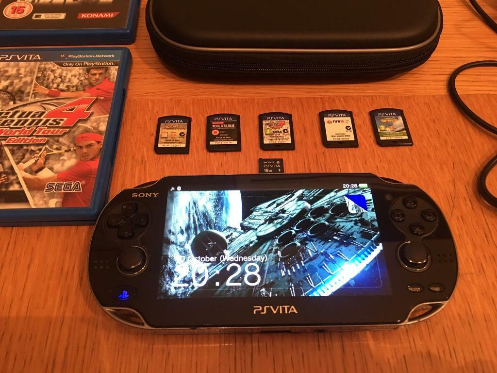 PS Vita PCH-1004, 16gb memory card,5 games, case, and charger   in Newton  Abbot, Devon   Gumtree