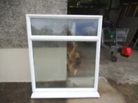 UPVC Window , patterned glass , non opening , security , garage , shed etc