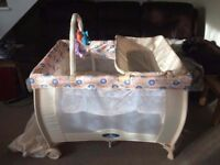 Baby start deluxe travel cot with bassinet