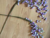 2 long artificial flower stems - would look beautiful in home or as wedding decoration