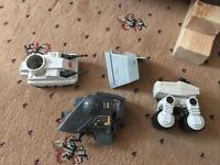 Vintage and new Star Wars items