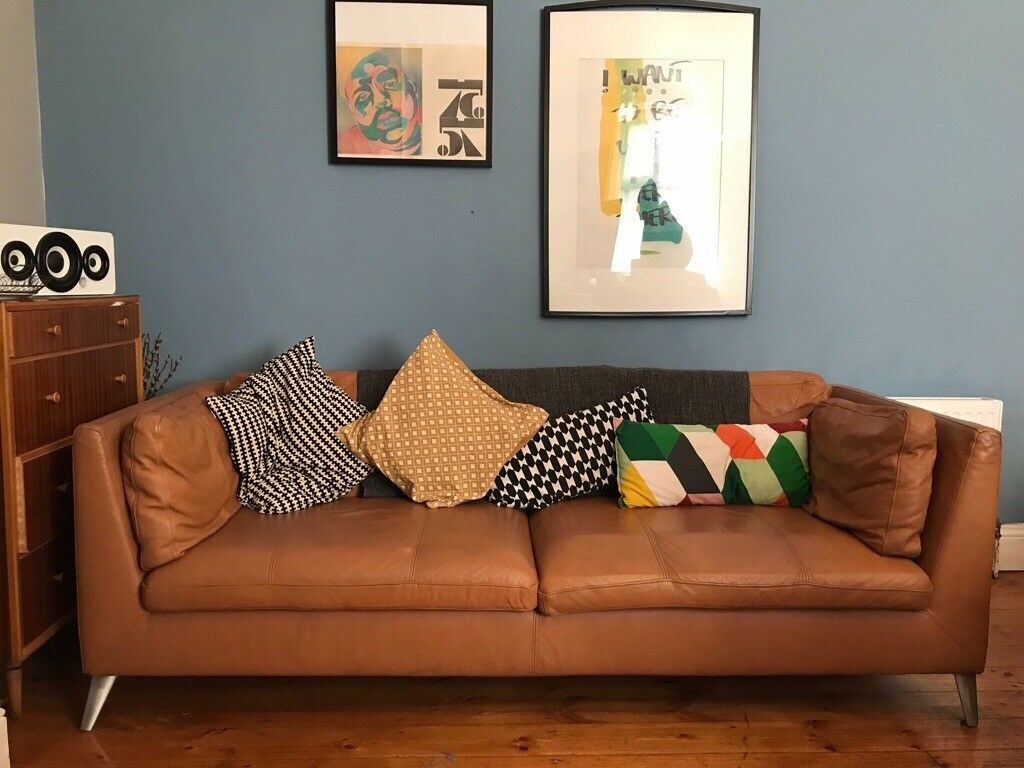 Amazing Ikea 3 Seat Brown Tan Leather Sofa 1 700 To Buy New Stockholm Range Open To Offers In Newcastle Tyne And Wear Gumtree Onthecornerstone Fun Painted Chair Ideas Images Onthecornerstoneorg