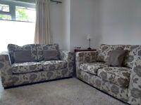 Pair of good quality modern grey sofas
