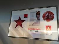 David Bowie. Bowie is japan disc,s frame mounted