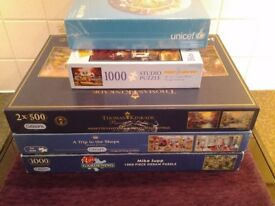 Five Jigsaw Puzzles(4 Gibsons) – Complete - Proceeds To Local Charity