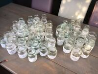 56 White Lace Jars