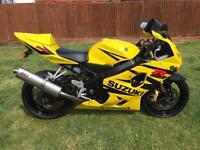 Suzuki gsxr 600 k4 mint rare yellow (not r1 r6 car zxr 600 750) may swap