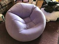 Purple inflatable chair