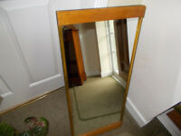 Wooden framed mirror suitable for hallway