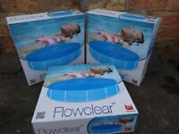 3 x Flowclear Pool Covers 15 foot x 3 foot