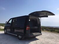 VW T5 2005 camper day van caravelle shuttle transporter 1.9TDI new MOT Black, R&R bed tinted windows