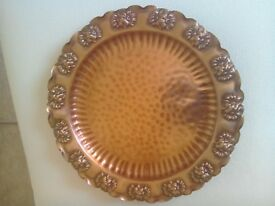 Vintage hand crafted decorative Copper plate