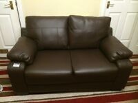 brand new 2 seats sofa, brown leather,PVC UNO CUBA ,fire resistant