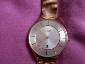Rose Gold coloured Storm Reese watch