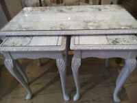 Beautiful NEST of TABLES Shabby Chic Style.