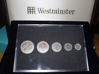 Silver WW1 and WW2 Coin Sets. Beautifully boxed, with CoAs.