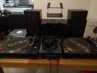 Technics 1210 Pair - With Onkyo Amp + Mixer + Extras - Can Separate If Needed
