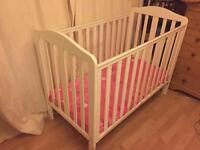 Baby cot and musical mobile