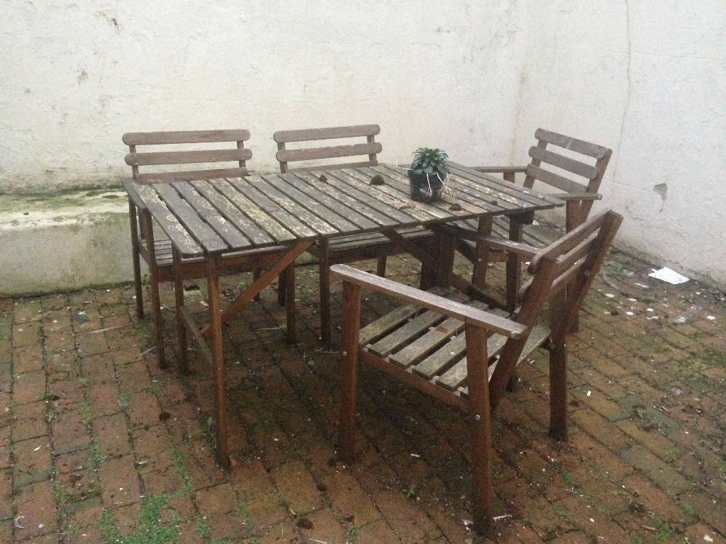 Ikea askholmen  IKEA ASKHOLMEN - Outdoor Table + 4 Chairs | in Hove, East Sussex ...