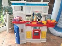 Little tikes prep n serve kitchen and fisher price kettle
