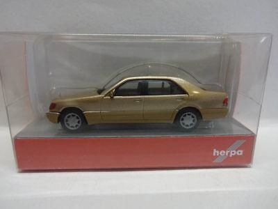 Herpa 038775 MB Mercedes Benz S-Klasse V12 W140 champagner metallic 1:87 Neu