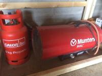 Gas heater will full gas bottle