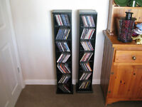 Two Black CD Racks