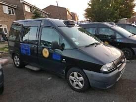 Black taxi 53 reg fiat scudo